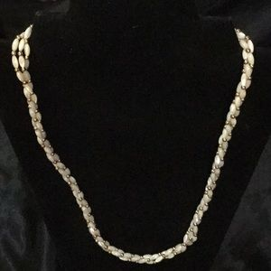 """Faux Pearl & Gold Beaded 24"""" Strand"""